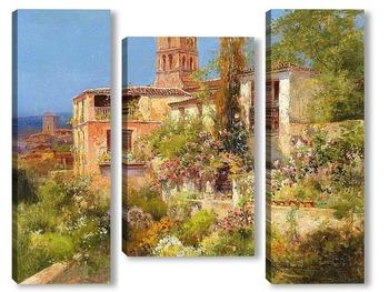 Модульная картина Картина художника XIX века