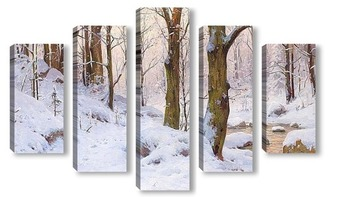 Модульная картина Зимний ландшафт