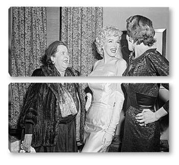 Модульная картина Мерелин Монро на приёме у Фрэнка Деланей,1955г.