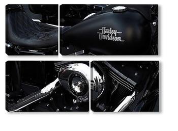 Модульная картина Урбанометрия. Геометрия Harley-Davidson.