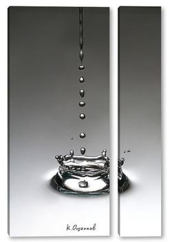Модульная картина Брызги от капли воды
