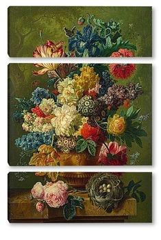 Модульная картина Цветы в вазе