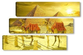 Модульная картина Рассвет в Египте