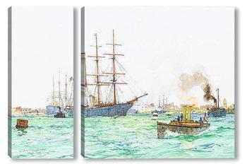 Модульная картина Вход в гавань Портсмута
