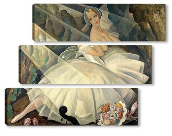Модульная картина Танцовщица балет Шопениана