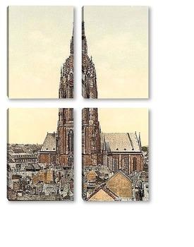 Модульная картина Собор, Франкфурт-на-Майне, Германия. 1890-1900 гг