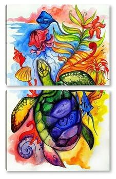 Модульная картина Сны морской черепахи