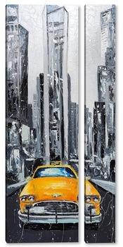 Модульная картина Такси Нью-Йорка