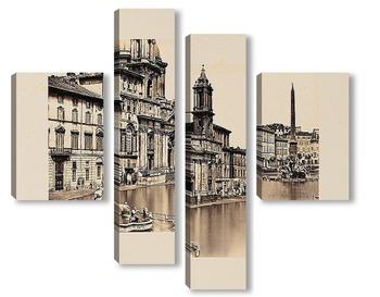 Модульная картина Рим, Италия, 1860
