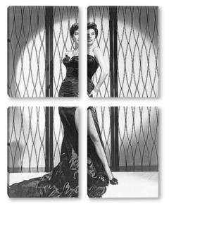 Модульная картина Актриса Эва Гарднер,1952г.
