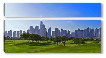 Модульная картина Городской пейзаж в Дубае