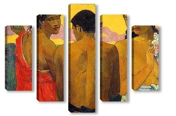 Модульная картина Три Таитянки