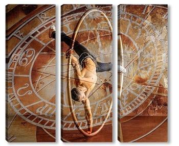 Модульная картина  Цирковой художник