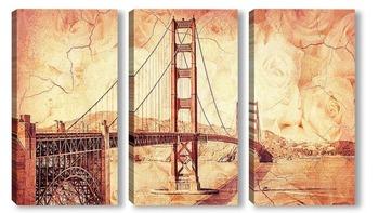 Модульная картина мост Золотые Ворота