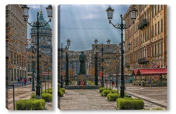 Модульная картина Санкт-Петербург, Малая Конюшенная улица