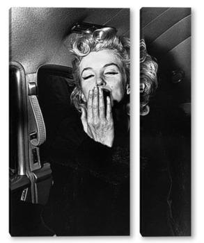 Модульная картина Мерлин Монро посылающая воздушный поцелуй,1956г.