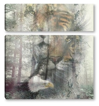 Модульная картина Тайны леса