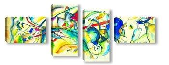 Модульная картина Духовное в искусстве