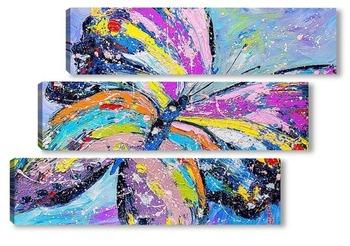 Модульная картина Яркая бабочка
