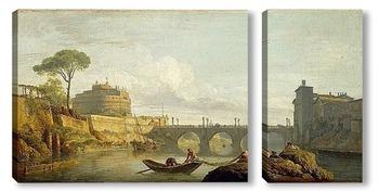 Модульная картина Мост и замок Святого Ангела в Риме