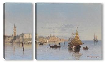 Модульная картина Вид Венеции