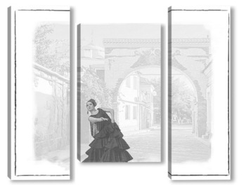 Модульная картина Фламенко
