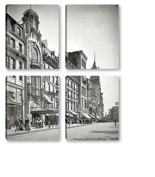 Модульная картина Бостон, штат Массачусетс, 1906