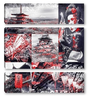 Модульная картина Японская культура