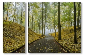 Модульная картина Осенний парк