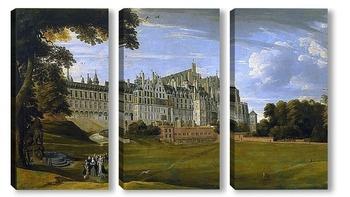 Модульная картина Королевский дворец Куденберг близ Брюсселя