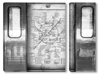 Модульная картина Схема метрополитена