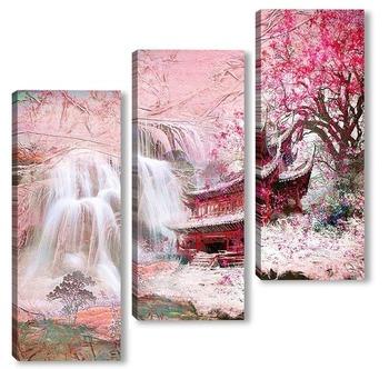 Модульная картина Водопад в Китае