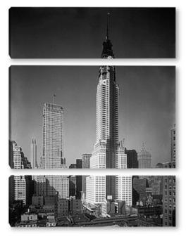 Модульная картина Строительство Крайслер билдинг 1929г.
