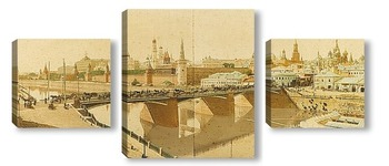 Модульная картина Вид на Москву, 1900-е годы