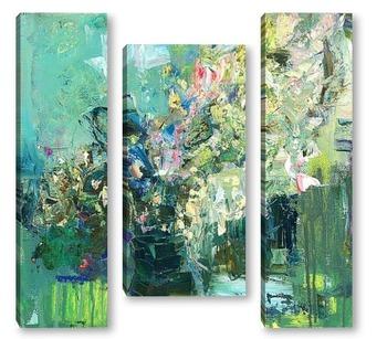 Модульная картина цветы на весеннем окне