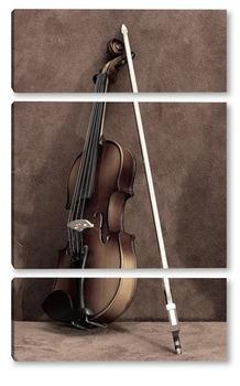 Модульная картина Смычок и скрипка