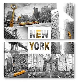 Модульная картина Прогулка по Нью-Йорку