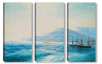 Модульная картина Корабли у берега.