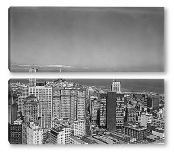 Модульная картина Небоскребы Сан-Франциско.