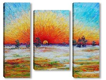 Модульная картина Солнечное сияние