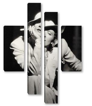 Модульная картина Немецкая актрисса Марлен Дитрих.
