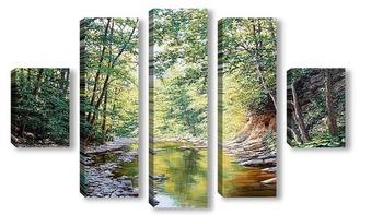 Модульная картина Река Папайка
