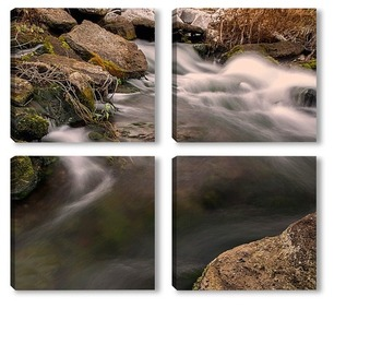 Модульная картина Вода в движении