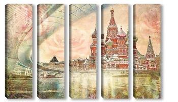 Модульная картина Москва. Красная площадь