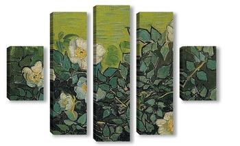 Модульная картина Дикие розы, 1890