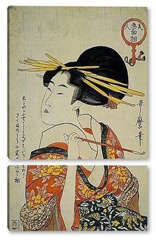 Модульная картина Utamaro003