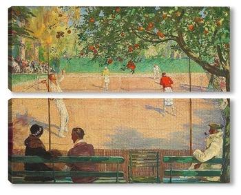 Модульная картина Теннис, Отель Beau Site, Канны