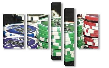 Модульная картина покер