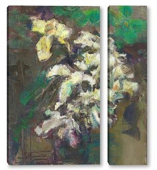 Модульная картина этюд с лилиями