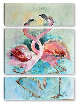Модульная картина Фламинго